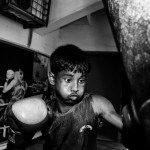Al-Amin practices boxing in the Mohammad Ali Boxing stadium ever