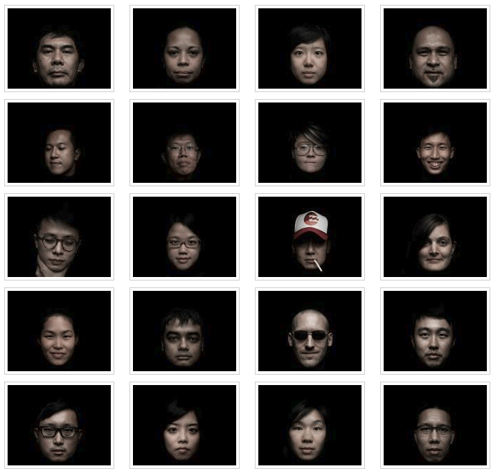 Portraits by Samuel He and Sam Chin at  PLATFORM Year In Pictures event at the National Museum Of Singapore.