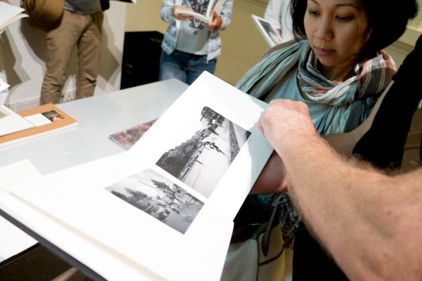 Anastasia Darsono shares her book with audiences during the Photo Book Dummy Hour.
