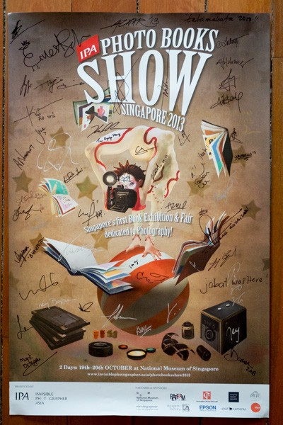 Signed official poster for IPA Photo Books Show 2013