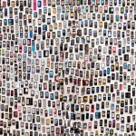 Hiding in the City - Mobile Phone, 2012. © Liu Bolin.