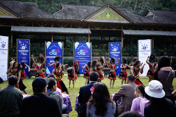 Colourful Festival Award ceremony at the Xishuangbanna Wild Elephant Park.