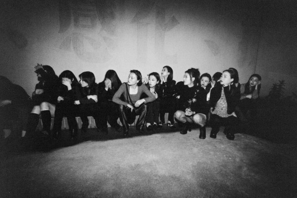 Prostitutes detained by police. 1996 © Yu Haibo