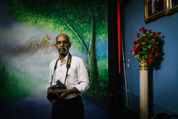 Portrait of Sajeev, 2015. Photograph by Kevin WY Lee.