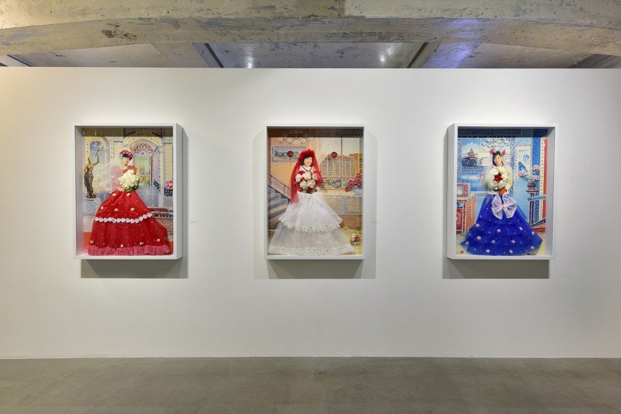Three Sisters Installation view at Blindspot Gallery.