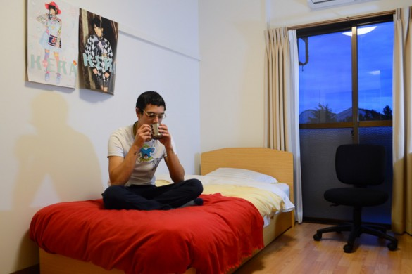 Gaston, Chile. Gaston enjoys the freedom of solitude - it builds an independence of mind. Gaston doesn't own or need much, and his room is clean and sparse. He spends on what he finds worthwhile – art and fashion, and often a combination of both.