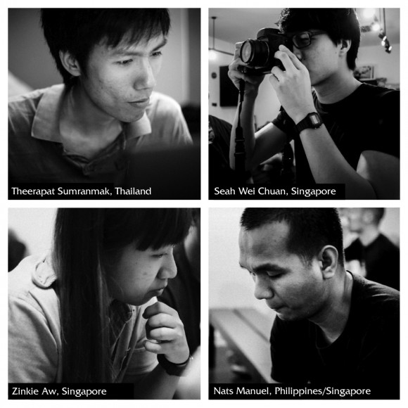 Past Workshop Grant Recipients: Theerapat Sumranmak, Thailand; Seah Wei Chuan, Singapore; Zinkie Aw, Singapore; and Nats Manuel, Philippines/Singapore.