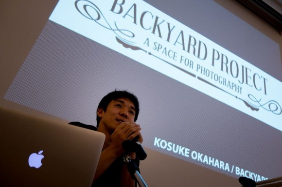 Kosuke Okahara presenting Backyard Project at the show.