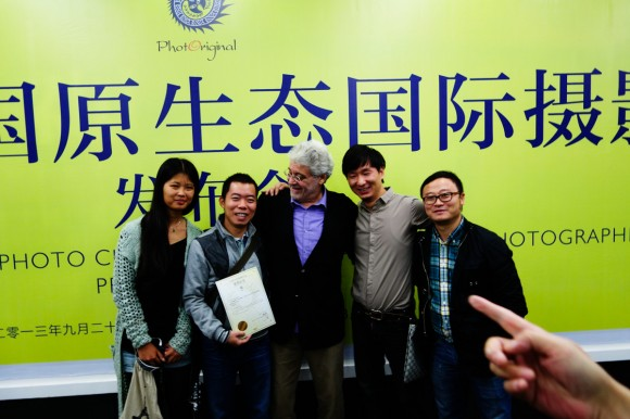 Cuong Do Manh with Robert Pledge, CEO of Contact Press Images, and festival team at 6th Guizhou Photo Festival