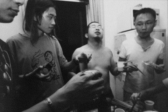 """Shenzhen's """"Yijiao"""" band. 2003 © Yu Haibo"""