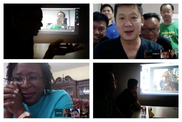 Online Group Progress Meetings with Mentorship Participants on G+ Hangouts.