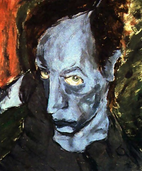 Portrait of JO (1976). Painting by David Bowie.