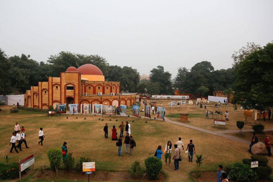 View of some of the outdoor exhibitions at the Delhi Photo Festival 2015. Photograph by Hajra Ahmad Ansari
