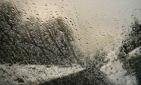 'I turned off the windscreen wipers – I wanted the raindrops to remain' ... Abbas Kiarostami on his Rain series. Photograph: Purdy Hicks Gallery