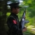 A soldier of Kachin Independence Army (KIA) runs to his position at the frontline of Lawa Yang area in Kachin State.